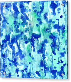 Blue On Blue Acrylic Print by Rosie Brown