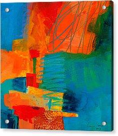 Blue Orange 2 Acrylic Print by Jane Davies