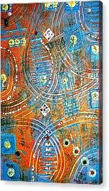 Blue Orange Acrylic Print