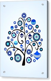 Blue Ornaments Acrylic Print