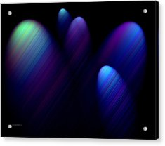 Blue Ovals With Lines Acrylic Print by Mario Perez