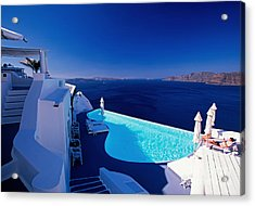 Blue Paradise Acrylic Print by Aiolos Greek Collections