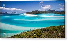 Blue Paradise Whitehaven Beach Whitsunday Island Acrylic Print by Mr Bennett Kent