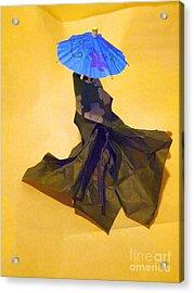 Blue Parasol Acrylic Print by Nancy Kane Chapman