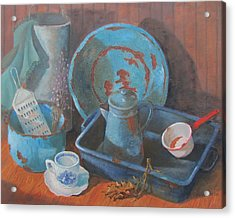 Acrylic Print featuring the painting Blue Period by Tony Caviston