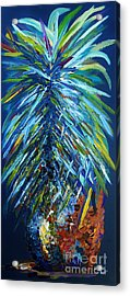 Blue Pineapple Acrylic Print by Eloise Schneider