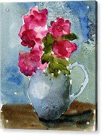 Blue Pitcher  Acrylic Print by Anne Duke