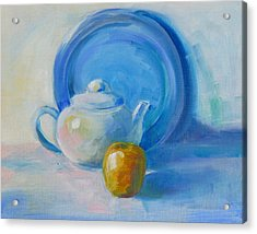 Blue Plate Special Acrylic Print by Valerie Lynch