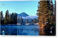 Acrylic Print featuring the photograph Blue Pond Sunrise by Julia Hassett