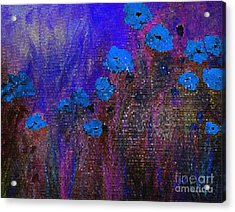 Blue Poppies Acrylic Print by Claire Bull