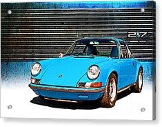 Blue Porsche 911 Acrylic Print