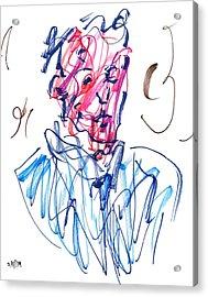 Blue Portrait Acrylic Print