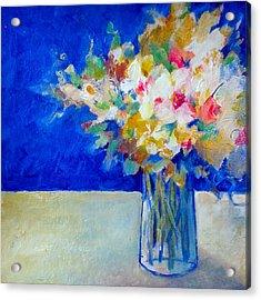 Blue Posy Acrylic Print