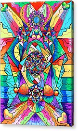 Blue Ray Transcendence Grid Acrylic Print by Teal Eye  Print Store