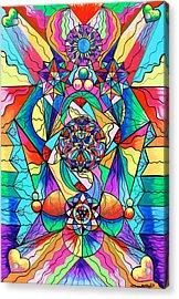 Blue Ray Transcendence Grid Acrylic Print