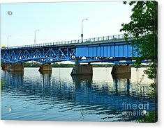 Blue Reflections Acrylic Print by Kathleen Struckle