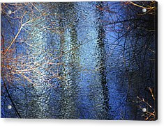 Blue Reflections Of The Patapsco River Acrylic Print
