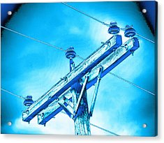 Blue Relay Acrylic Print by Wendy J St Christopher