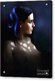 Blue Ribbon Acrylic Print by Robert Foster