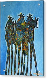 Blue Riders Acrylic Print by Lance Headlee