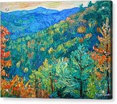Blue Ridge Autumn Acrylic Print by Kendall Kessler