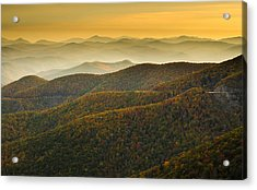 Acrylic Print featuring the photograph Blue Ridge Autumn by Serge Skiba