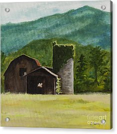 Blue Ridge Barn Acrylic Print by Carla Dabney
