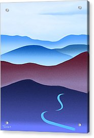 Blue Ridge Blue Road Acrylic Print by Catherine Twomey
