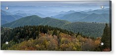 Blue Ridge Evening Acrylic Print by Andrew Soundarajan