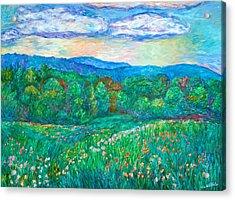 Blue Ridge Meadow Acrylic Print by Kendall Kessler