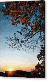 Blue Ridge Mountail Fall Acrylic Print
