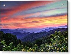 Blue Ridge Mountain Color Acrylic Print