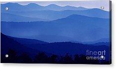 Blue Ridge Mountain Panoramic  Acrylic Print