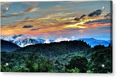 Blue Ridge Mountain Sunrise  Acrylic Print