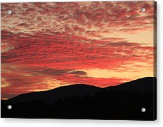Acrylic Print featuring the photograph Blue Ridge Mountain Sunset-alabama by Mountains to the Sea Photo
