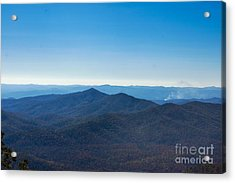 Acrylic Print featuring the painting Blue Ridge Mountains by Debra Crank