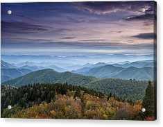 Blue Ridge Mountains Dreams Acrylic Print