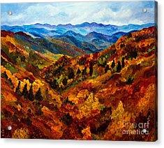 Blue Ridge Mountains In Fall II Acrylic Print by Julie Brugh Riffey