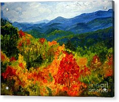Blue Ridge Mountains In Fall Acrylic Print