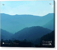 Blue Ridge Mountains Acrylic Print by Lorraine Heath