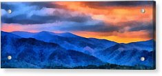 Blue Ridge Mountains Sunrise Acrylic Print by Dan Sproul