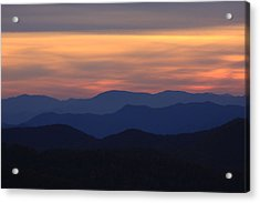 Blue Ridge Nc Acrylic Print