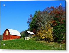 Blue Ridge Parkway Barn With Fall Trees Acrylic Print