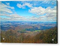 Blue Ridge Parkway Beautiful View Acrylic Print by Betsy Knapp