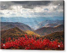 Blue Ridge Parkway Fall Foliage - The Light Acrylic Print