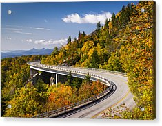 Blue Ridge Parkway Linn Cove Viaduct - North Carolina Acrylic Print