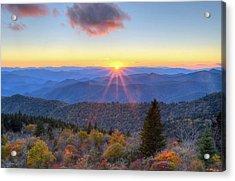 Blue Ridge Parkway Nightfall Serenity Acrylic Print by Mary Anne Baker