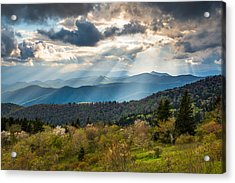 Blue Ridge Parkway North Carolina Mountains Gods Country Acrylic Print