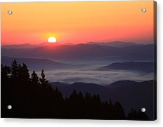 Blue Ridge Parkway Sea Of Clouds Acrylic Print by Mountains to the Sea Photo