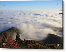 Blue Ridge Parkway Sea Of Clouds Near Graveyard Fields Acrylic Print